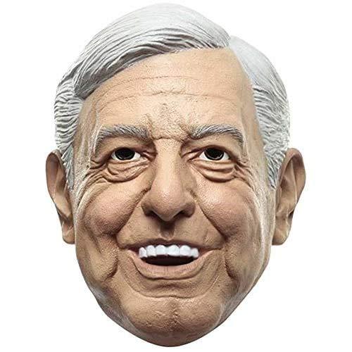 Ya Sabes Quién, Máscara de Andrés Manuel López Obrador Amlo, Disfraz del Peje Presidente de México de Máscaras de Personajes Famosos Ideal para Halloween
