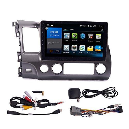 Android 10 Autoradio Auto Navegación Coche Reproductor Multimedia GPS Radio 2.5D IPS Pantalla táctil para Honda Civic 2004-2011