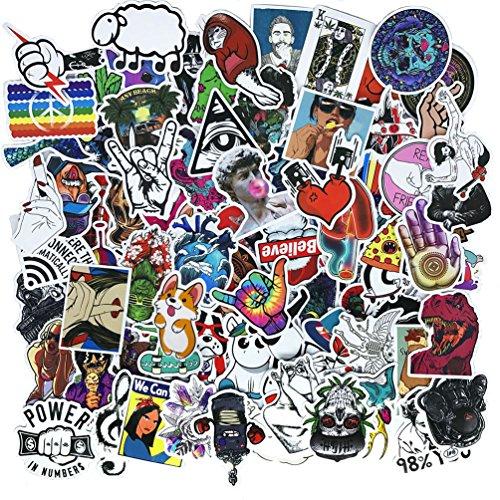 Cool Teens Paquete de 100 pegatinas de graffiti, impermeables, divertidas, para ordenador portátil, parachoques, bicicleta, equipaje, monopatín, casco, coche y teléfono