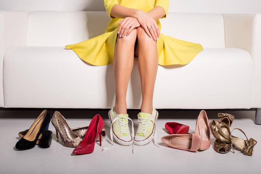 Zapatos desordenados