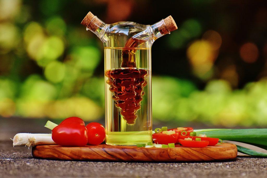 frasco de vinagre
