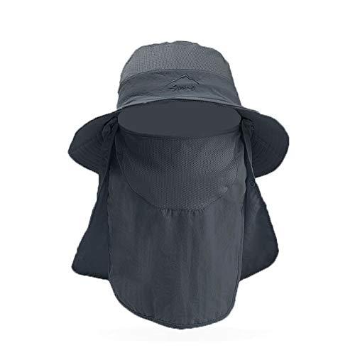Sombrero de Sol de Ala Ancha Unisex, BONKEEY Sombrero de Pesca , Quemaduras Solares y Protección UV – Gorra de Boonía Ligera – Sombrero de Cubeta para Pesca, Senderismo, Camping, Playa y Safari (A-Gris)