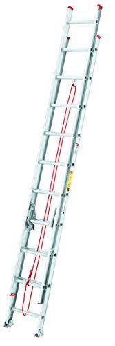 Cuprum 494-20N Escalera de Extensión Aluminio, 20 Pies y 150 Kg de Capacidad de Carga T-III Comercial
