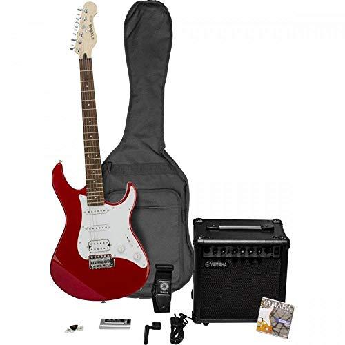 Yamaha EG112GPIIMR Paquete De Guitarra Eléctrica Con Amplificador GA15, Afinador, Púas, Set de Cuerdas, Cable y Funda