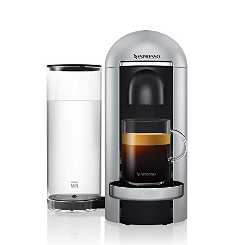 NESPRESSO Cafetera VertuoPlus, Color Plata (Incluye obsequio de 12 cápsulas de café)