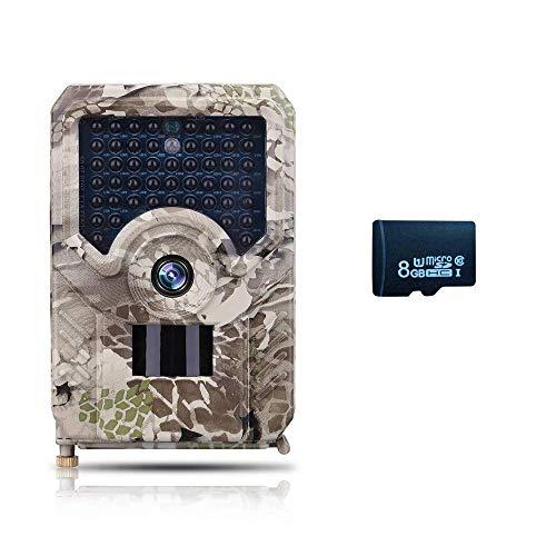 HHWNZ Cámara de Caza Nocturna 12MP 1080P con Diseño Impermeable IP56 Cámara de Fototrampeo con Detección de Acción LED IR Sin Brillo para Seguimiento Cinegético de Fauna.