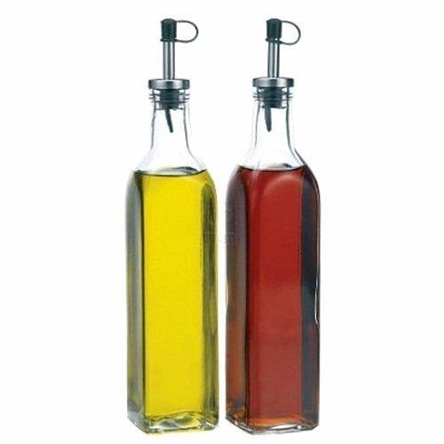 Dispensador de aceite y vinagre Vidrio vinagrera botellas, juego de 2