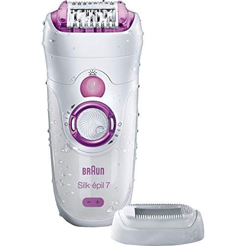 Braun Silk-épil 7 7-521 depiladora para mujer, depiladora eléctrica, mojado y seco, inalámbrica, blanco/rosa (embalaje puede variar)