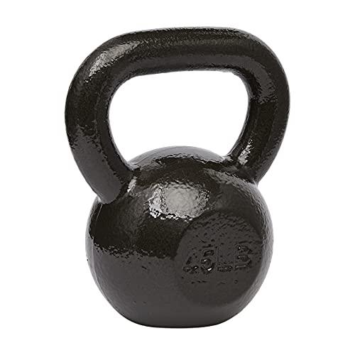 Amazon Basics - Pesa rusa de hierro fundido, color negro, 6.8 kg