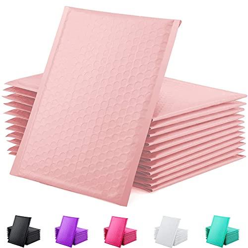 GSSUSA - Sobres acolchados de polietileno de 15,2 x 25,4 cm, sobres de burbujas pequeños, bolsas de envío, paquete de autosellado, suministros de negocios, color rosa