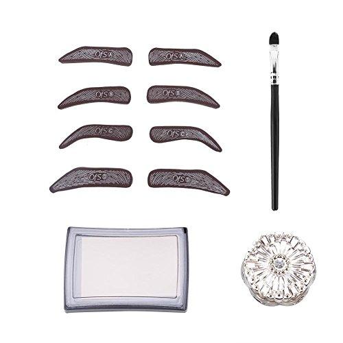 Kit de sellos para cejas, definición de maquillaje, línea impermeable para cejas, plantilla de tatuaje, artista de microblading cosmética conjunto de herramientas