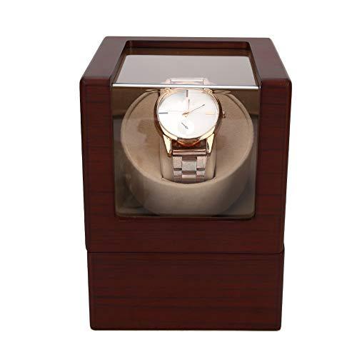 Caja Automática de Enrollador de Reloj, Estuche de Almacenamiento de Exhibición de Reloj de Pulsera Mecánico de Motor Silencioso, Bobinadora para Reloj Watch Winder para Mujer y Hombre