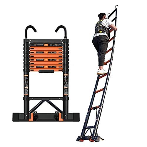 Escalera de extensión Escalera Telescópica Escalera Telescópica De Aluminio Plegable Multiusos Extensible Portátil Loft Escalera Plegable Multiusos Jardín De Oficina En Casa ( Size : 3.9m/12.8ft )