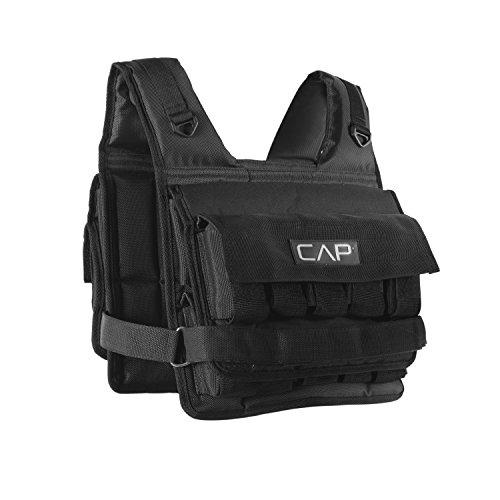 CAP Barbell HHWV-CB020S Short Adjustable Weighted Vest, 20 LB