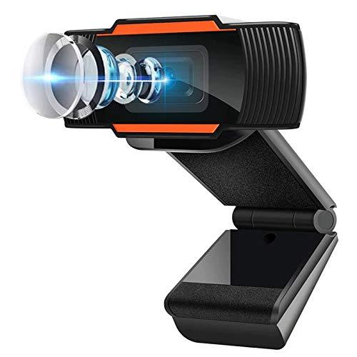 1080P HD Cámara Web, MTQ Webcam PC con Microfono, Cámara de Computadora USB con Micrófono Dual Integrado para PC Mac Portátil de Computadora, Cámara para Laptop de Reducción de Ruido para OBS Xbox XSplit Skype Facebook.