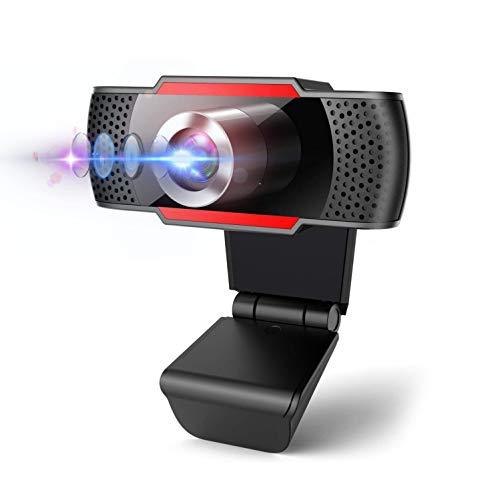 Cámara web 1080P con micrófono, cámara web con micrófono para PC, cámara web USB HD para escritorio, videollamadas, Plug and Play, grabación, estudio, videoconferencias en zoom/Youtube y Skype…