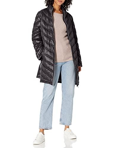 Calvin Klein Chamarra de plumón Acolchado Chevron para Mujer, Negro, M