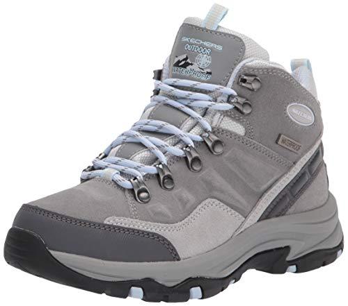 Skechers Botas de montaña Trego Rocky de mujer, gris, 7.5 US