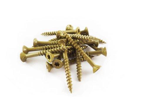 WoodPro Fasteners AP8X112-1 - Tornillos multiusos para construcción de madera, T20, 0,5 kg, peso neto de 210 unidades