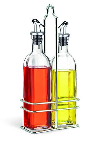 Cuisinox - Juego de aceitera y vinagrera con caja, color plateado