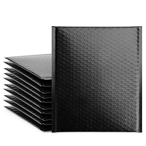 Cozymood 25 sobres de burbujas negras de 20,3 x 30,5 cm, sobres acolchados impermeables para pequeñas empresas, envío/embalaje/envío de bolsas autosellables