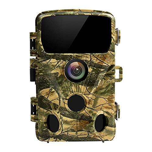 HHWNZ Cámara de Caza Nocturna 14MP 1080P con Diseño Impermeable IP65 Cámara de Fototrampeo con Detección de Acción LED IR Sin Brillo para Seguimiento Cinegético de Fauna,Yellow