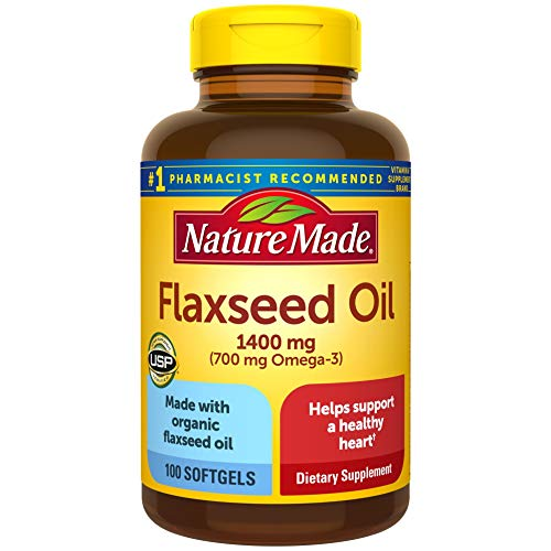 Nature Made Flaxseed Oil 1400 Mg Softgel, 100 Count