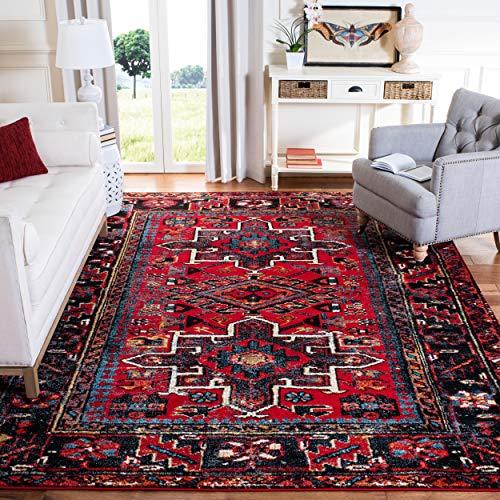 Safavieh, Alfombra tradicional oriental persa Vintage Hamadan Collection, VTH211A-6, Rojo/Multicolor, 200.66 cm x 274.32 cm