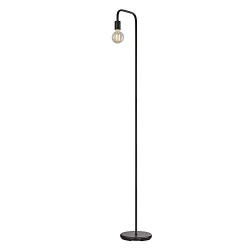 Globe Electric Remington 144,8cm-Lámpara de pie, Luz baja, Downlight, Negro