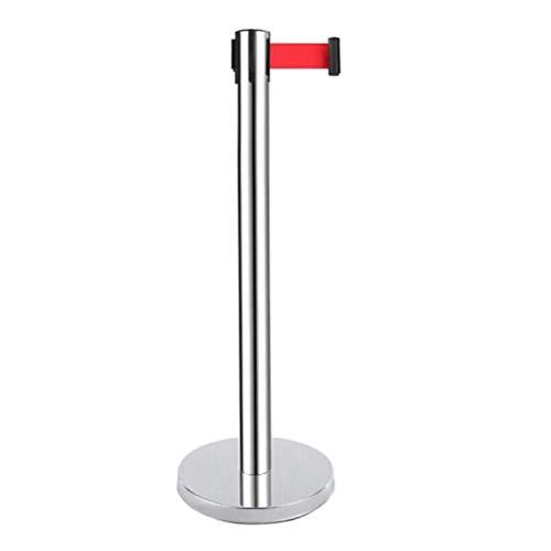 Jlxl Postes Separadores para Delimitar Espacios Retráctil Control De Multitudes Fijación Puntales Cola Línea Puesto Barrera W/Rojo Cinturón (Size : 3m)