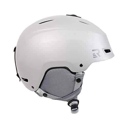 Retrospec H4 - Casco de esquí y Snowboard con 9 Rejillas de ventilación, Pizarra Satinada, tamaño pequeño 52-55,5 cm