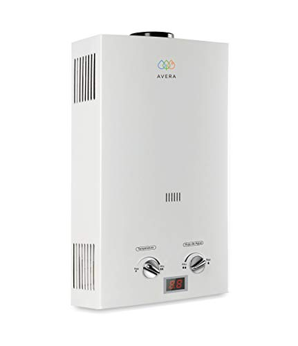 AVERA Calentador de agua instantáneo para 1 regadera. GAS LP. C6L. Boiler de paso.