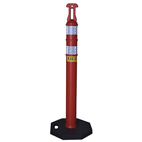 Lica POSTE Poste para señal de ALTO, color Naranja fluorescente, pack of/paquete de 1