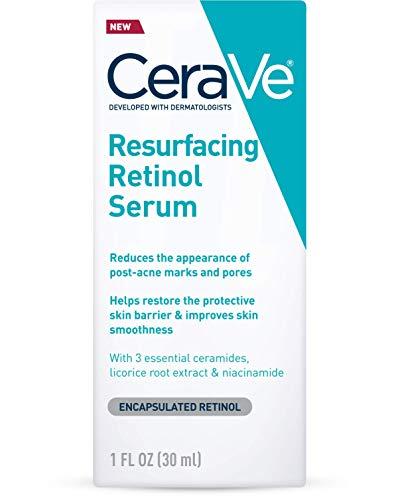 CeraVe Retinol Serum for Post-Acne Marks and Skin Texture   Pore Refining, Resurfacing, Brightening Facial Serum with Retinol   1 Ounce