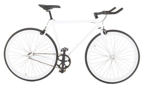 Vilano Edge Fixed Gear Single Speed bicicleta, Small, White