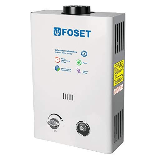Foset CALE-6I, Calentador de paso instantáneo, 6L, gas LP, 1 servicio
