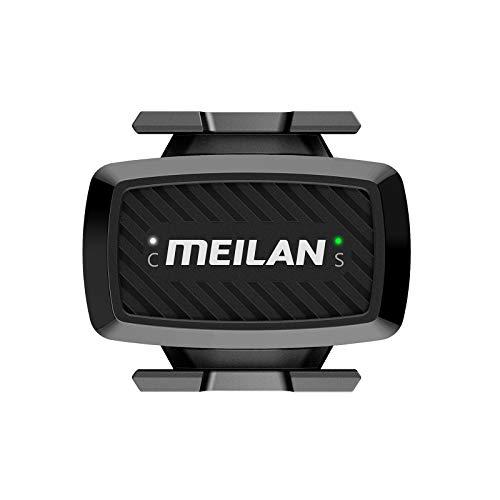 MEILAN C1 Sensor de Velocidad/Cadencia de Bicicleta, Doble Módulo Bluetooth/ANT+ RPM Sensor de Ciclismo Inalámbrica para Ciclocomputadores y Aplicación de Fitness
