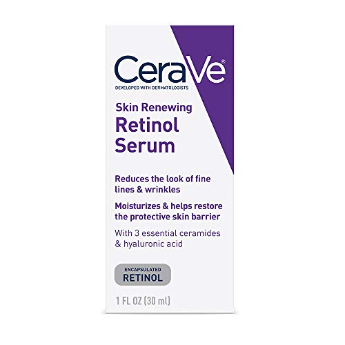 CeraVe Anti Aging Retinol Serum for Face   1 Ounce   Cream Serum for Smoothing Fine Lines   Fragrance Free