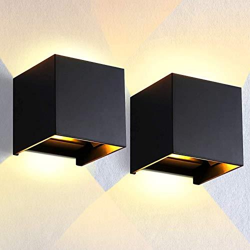 Aplique de pared de aluminio para pared exterior de cubo LED, JSXing 4.7