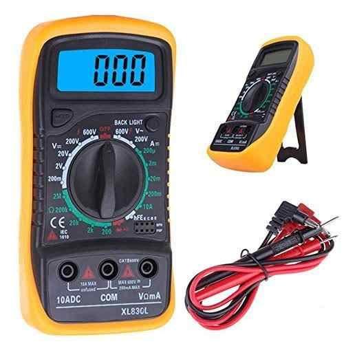 SEAFON Multimetro Digital Profesional Xl830l Digital Profesional, Voltimetro Amperimetro, Medidor de Corriente Voltaje DC, Resistencia, Continuidad, Diodos