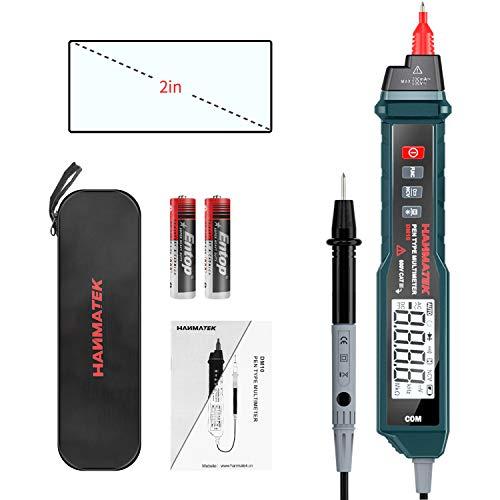 Multímetro digital tipo bolígrafo, probador eléctrico con NCV, amperímetro AC/DC, voltímetro amperímetro, resistencia, probadores digitales de línea en vivo con retroiluminación y linterna.