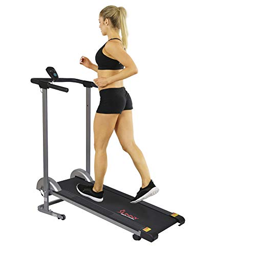 Sunny Health & Fitness SF-T1407M Caminadora para Andar Manual Plegable