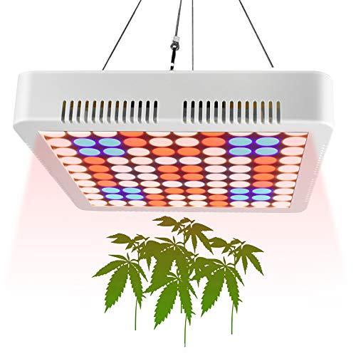 Aogled 1000 W luces de cultivo para plantas de interior, espectro completo, panel LED de luz de planta con cuerda ajustable para interior hidropónico, invernadero y tienda de cultivo, lámpara LED para semillero, verduras y flores