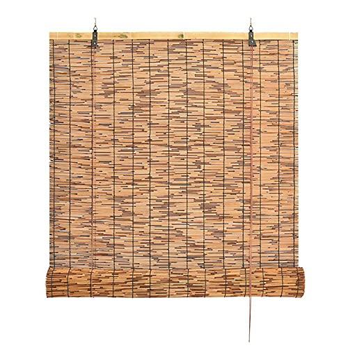 STZLY Rollos de Valla de Bambú, Persianas Enrollables de Bambú, Persiana Enrollable de Caña, Pantalla de Caña, Tejida a Mano, para Jardín, Patio, Galería, Balcón