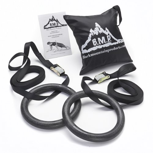 Black Mountain 1200lbs Rated Multi-Use Exercise Gymnastics Rings